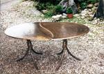 Tisch zweiteilig, oval